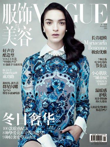 Vogue China Noviembre 2013: Mariacarla Boscono en Valentino by Willy Vanderperre - Estilismo Nicoletta Santoro