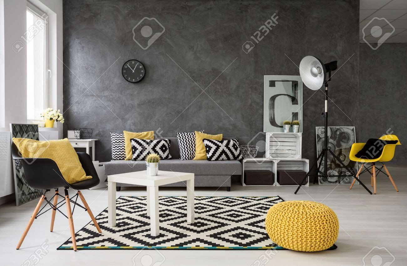 10+ Best Yellow Grey And Black Living Room