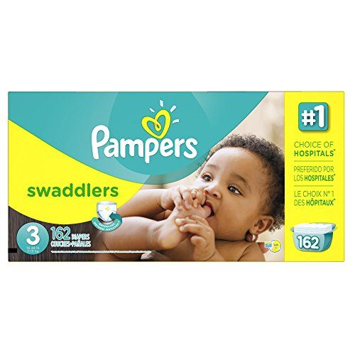 Pampers Swaddlers Diapers Size 3 Economy Pack Plus 162 ...