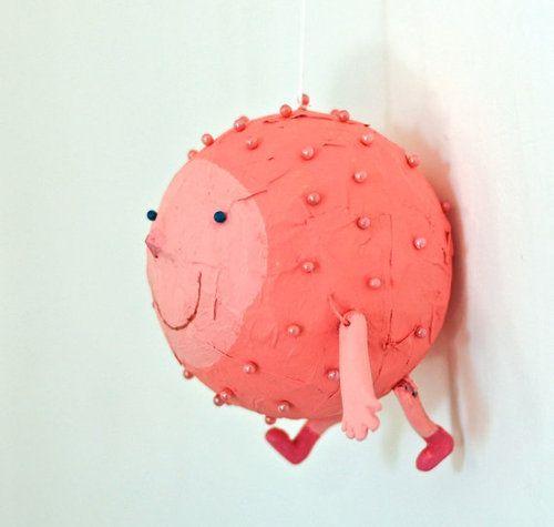 Pink creature art doll - Jenny Meilihove