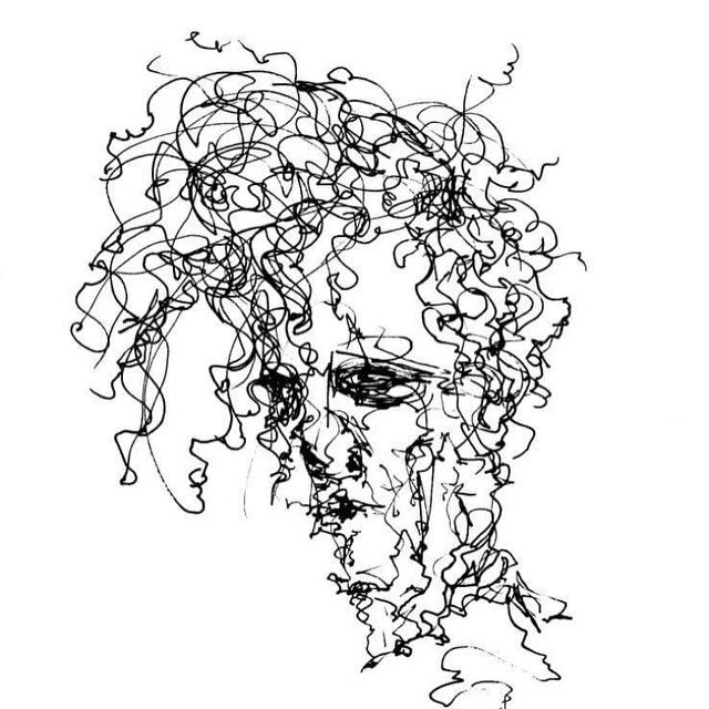 Continuous Line Drawing Famous Artists : Continuous line drawing portrait google search art