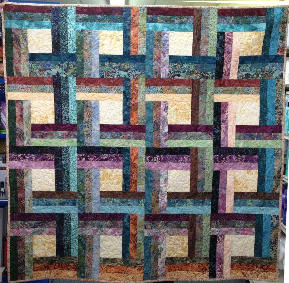 Quilted Batik Lap Quilt/Textile Art By Vschwam On Etsy