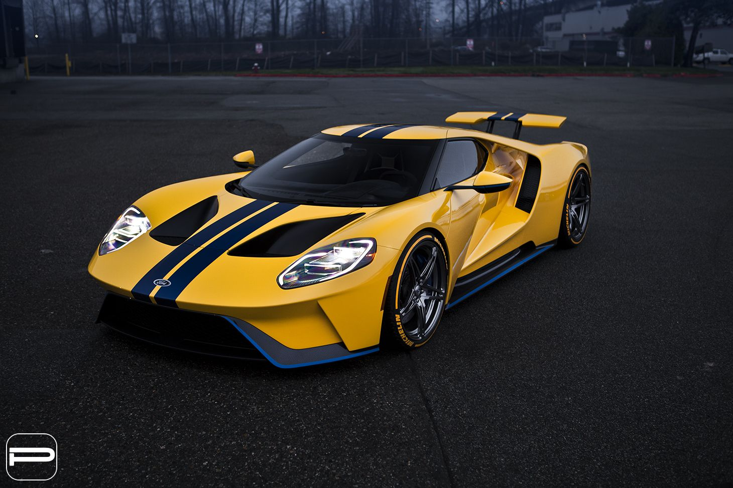 Ford Gt On Custom Wheels Is Pure Wallpaper Material Carscoops Ford Gt Luxury Car Photos Super Cars