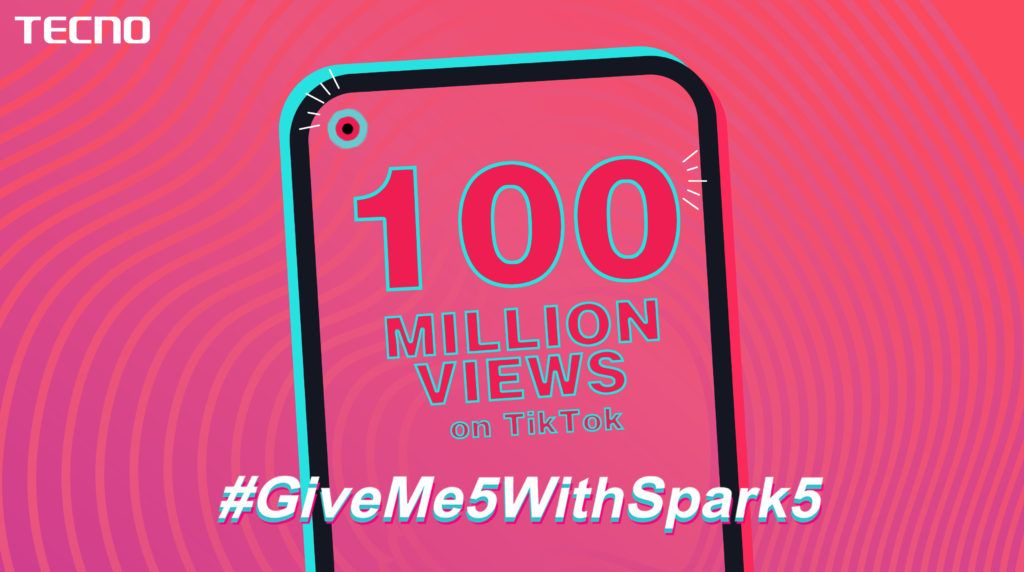 Tecno S Giveme5withspark5 Challenge Breaks A Record Of 100m Views On Social Media Social Media Acting Skills Social Media Site