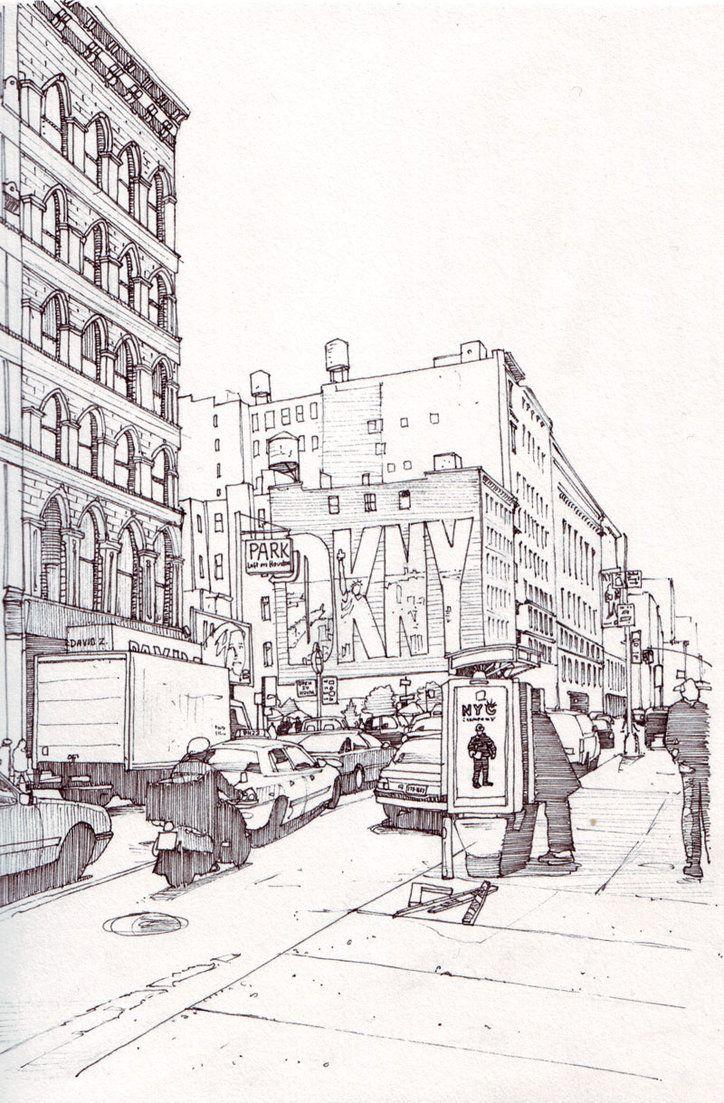 Dkny Ad New York By Edgeman13 On Deviantart De Stad Getekend