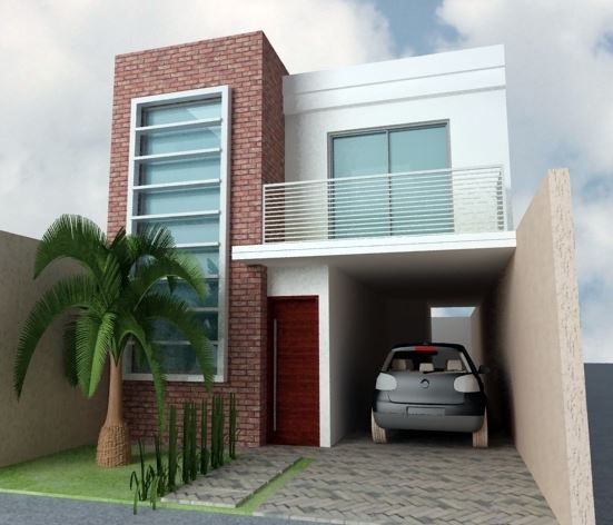 Imagenes de fachadas de casas de dos pisos modernas for Modelos de casas medianas