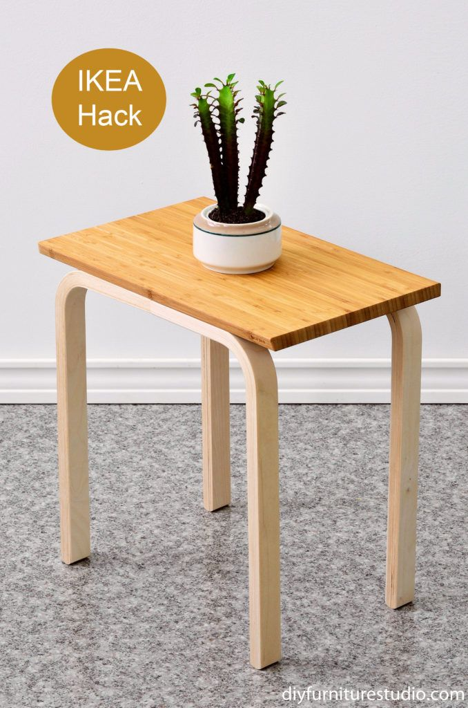 here is another easy diy side table and my first ikea hack well