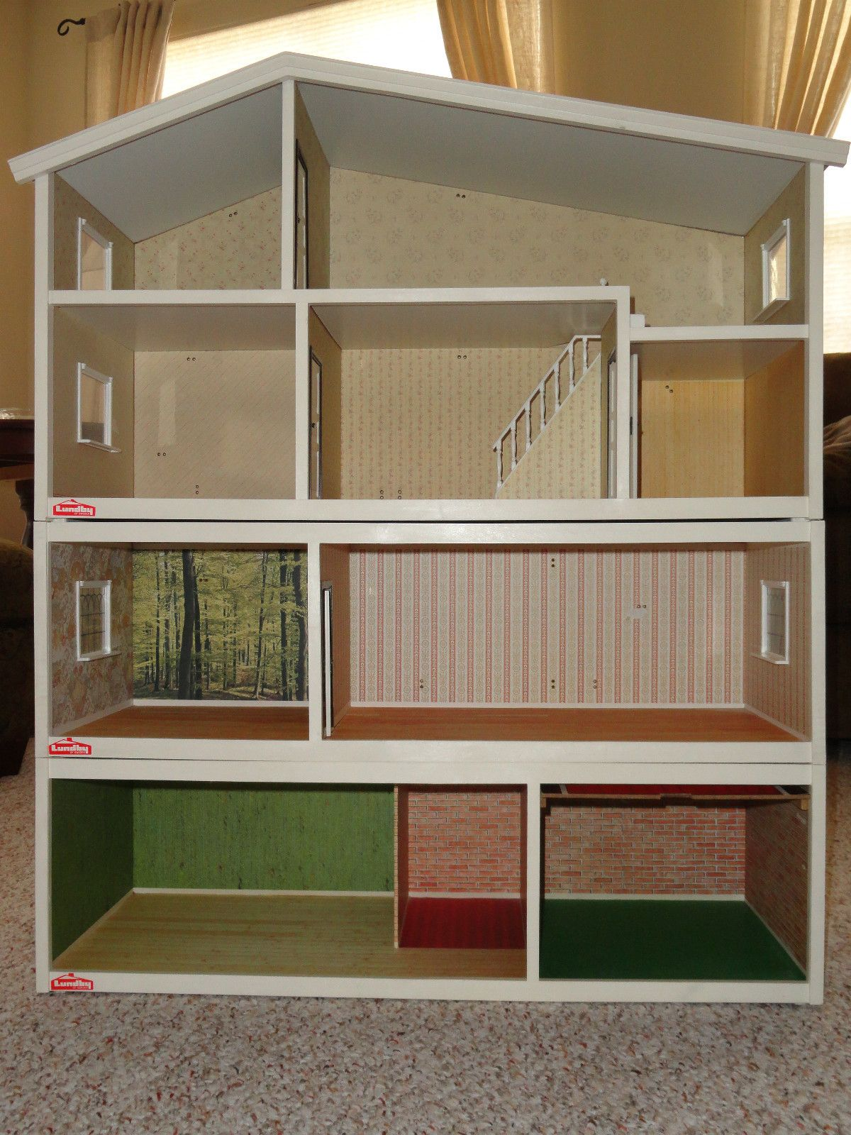 Details About Vintage Lundby 4 Story Electic Dollhouse With Garage