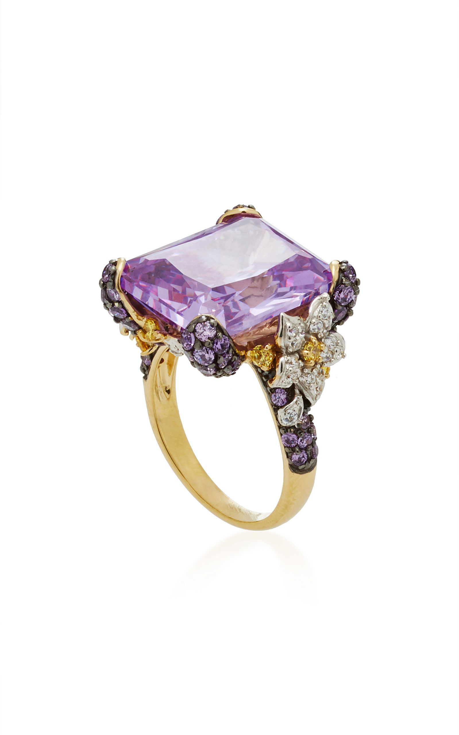 diamond gold pave jewelry ring lilac pink maggioro ps sapphire white