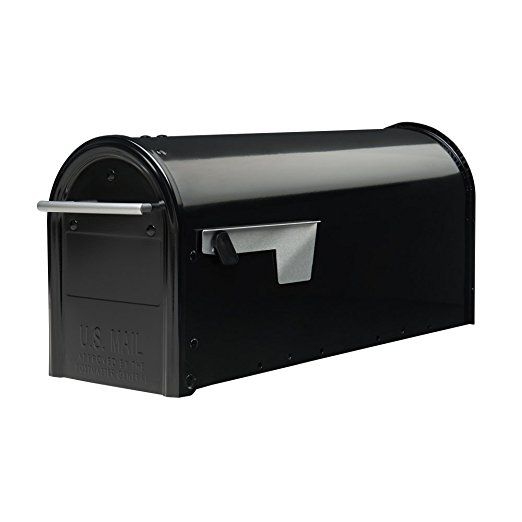 GIBRALTAR POST MOUNT MAILBOX Medium Rural Box Mail Storage Galvanized Steel Gray DIY Materials