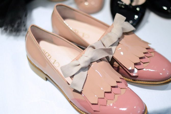 558d01bdbf7b6 Red Valentino Pastel blush patent leather loafers, Spring  Image  The  Cherry Blossom Girl