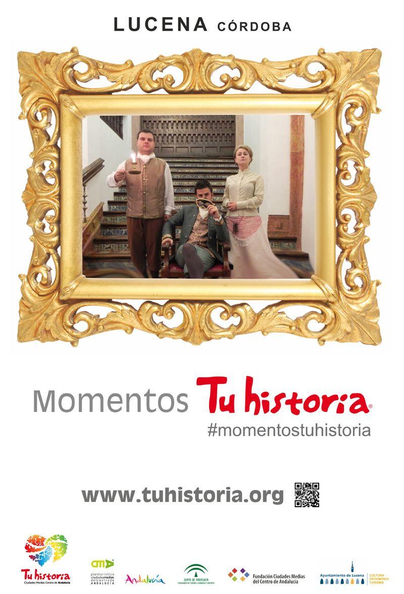Mupi de Lucena en campaña #momentostuhistoria en Córdoba