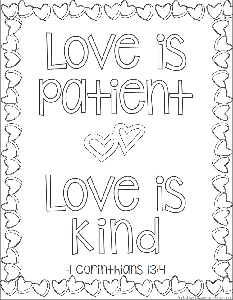- Free Bible Verse Coloring Pages — Kathleen Fucci Ministries Bible Verse  Coloring Page, Bible Coloring Pages, Bible Coloring