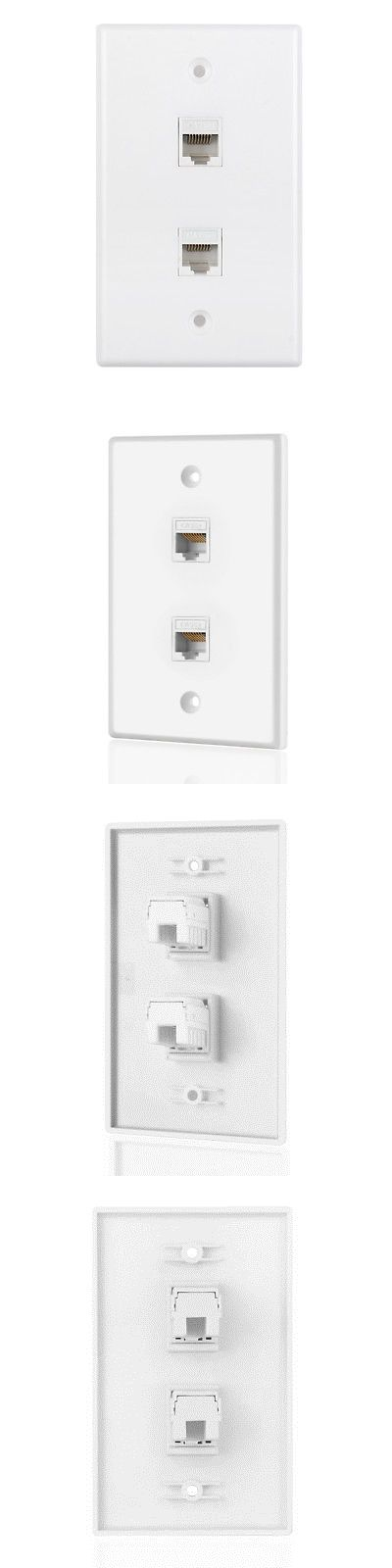 Details About Ethernet Network Wall Plate Rj45 Socket Port Wiring Plug Jack Outlet Mount Panel Plates On Wall Wall Jack Wall