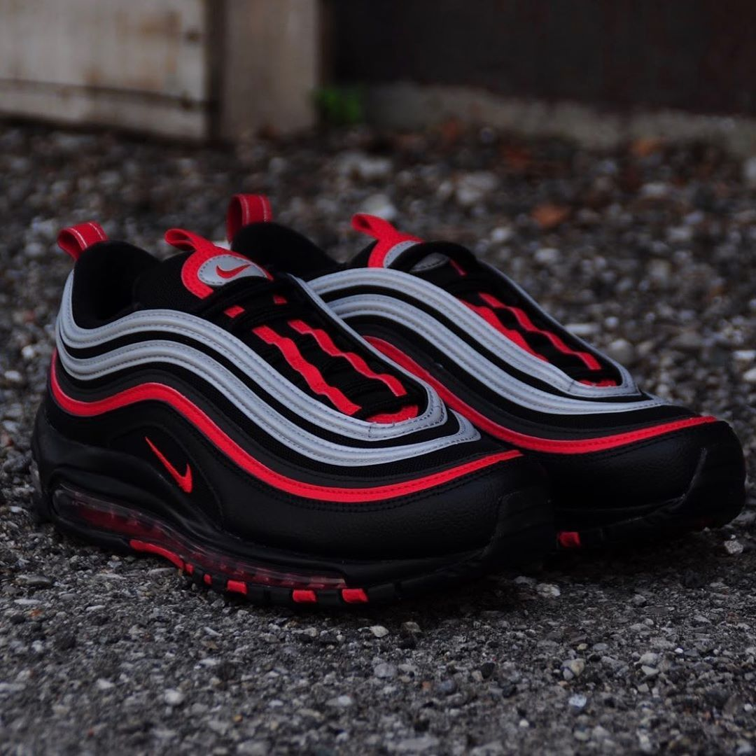 """Fall 2019 Collection Mens Nike Air Max 97 """"Black Red Silver"""