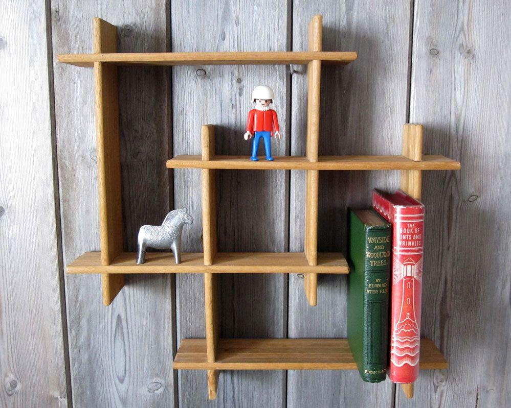 Vintage Wooden Shelf Display Rack Small Wall Mounted Etsy Display Shelves Wooden Shelves Shelves