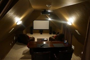 Attic Theater Room Traditional Home Theater Oklahoma City By Great Choice Audio Video Attic Theater Attic Rooms Home Theater Installation