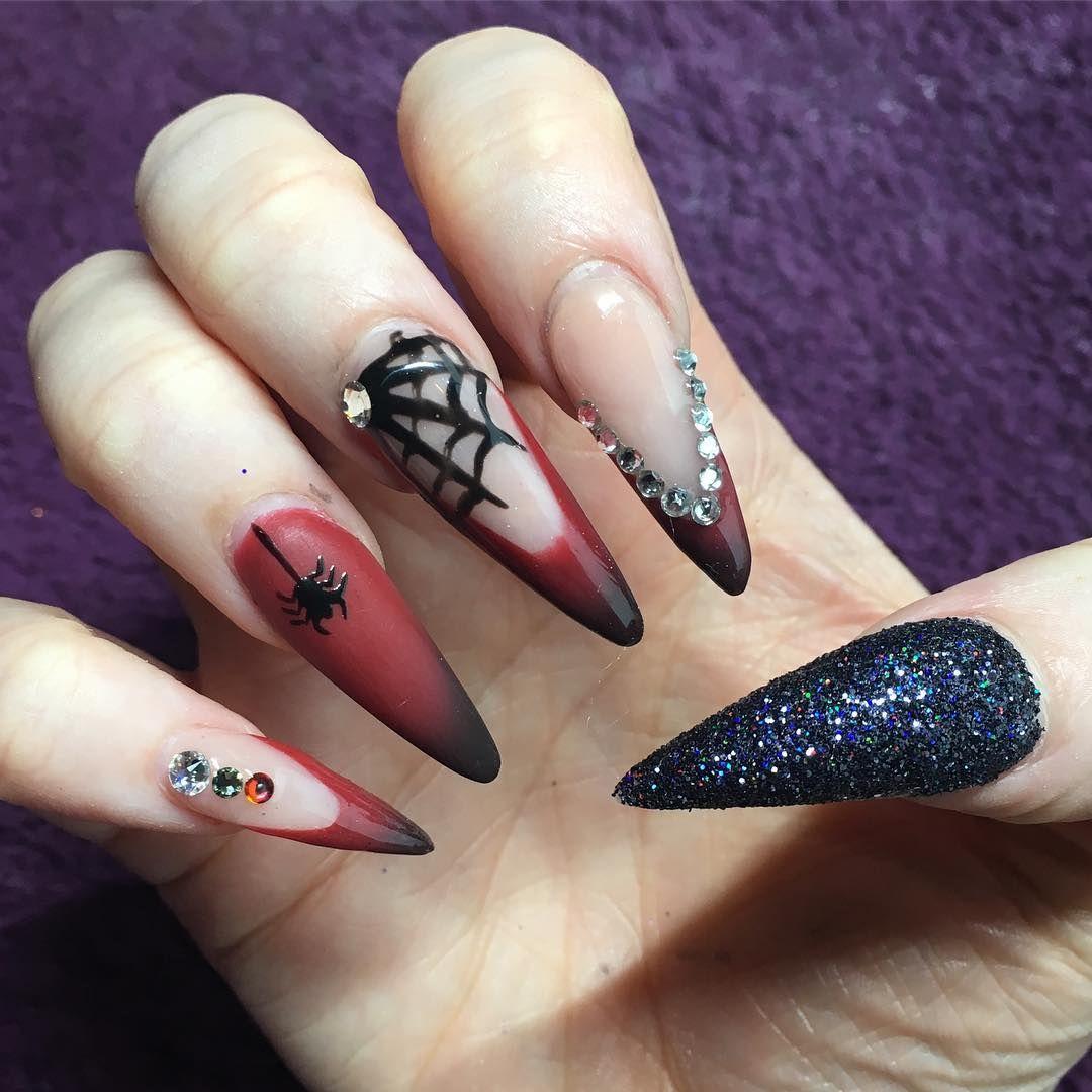 картинки острых ногтей с дизайном трешер травмы