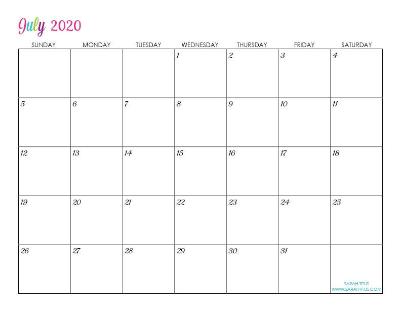 Free Printable 2020 Monthly Calendar.Custom Editable 2020 Free Printable Calendars Calenders 2018