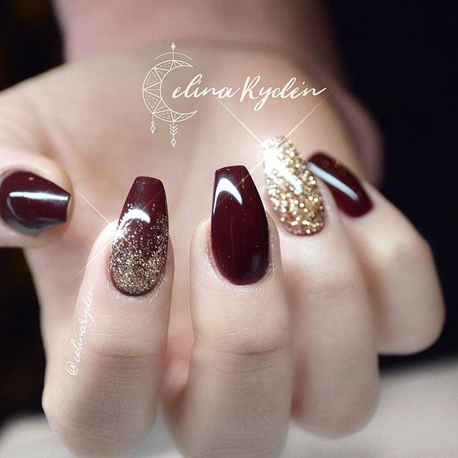 40 Trendy Short Coffin Nails Design Ideas Naildesignsjournal Com Short Coffin Nails Designs Burgundy Nails Wine Nails