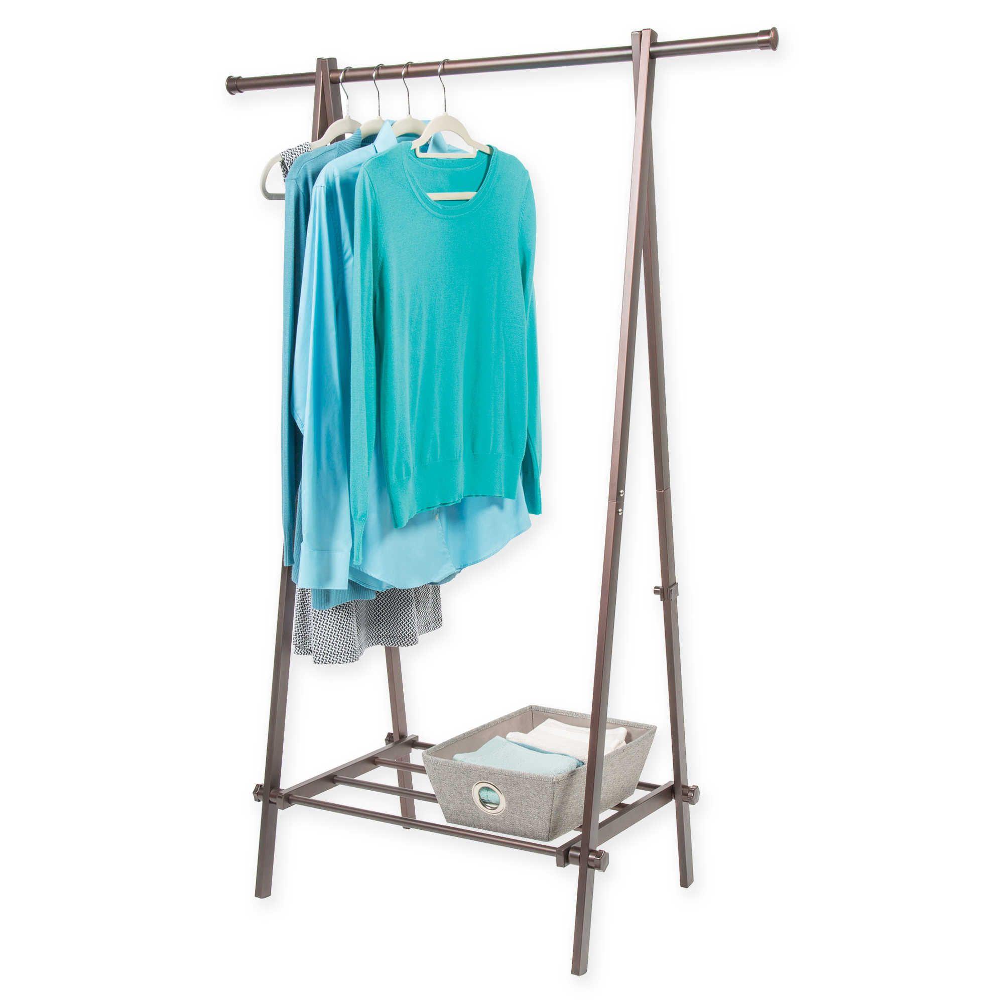 A-Frame 1-Shelf Garment Rack in Bronze