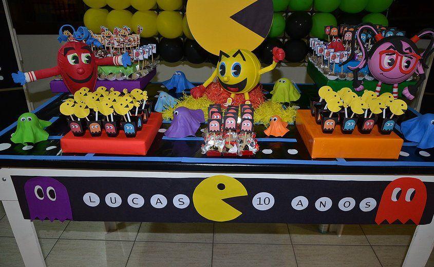 Pin Em Ideias Festa Pac Man