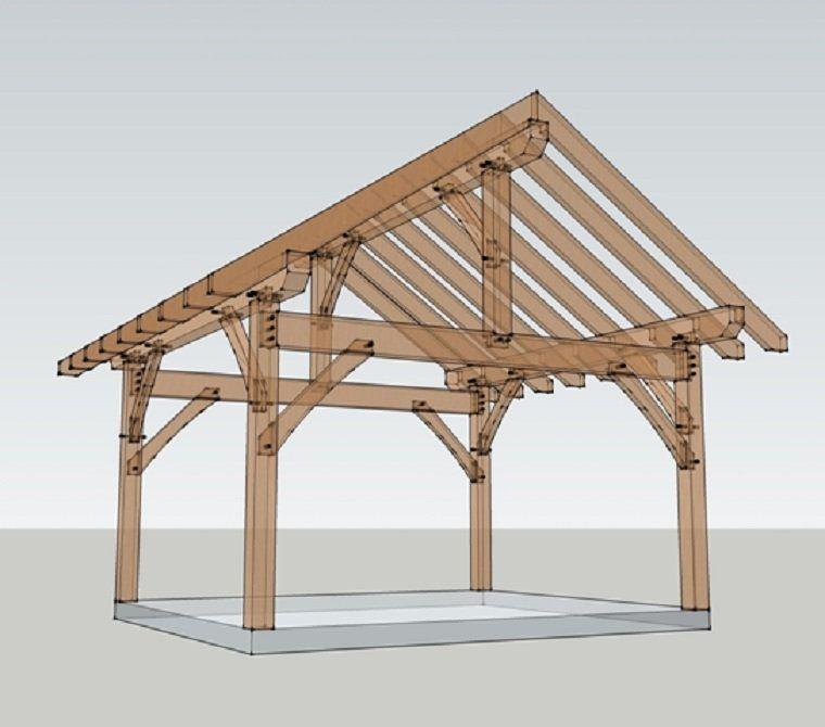 14x16 Timber Frame Shed Plans Building A Patio Pergola