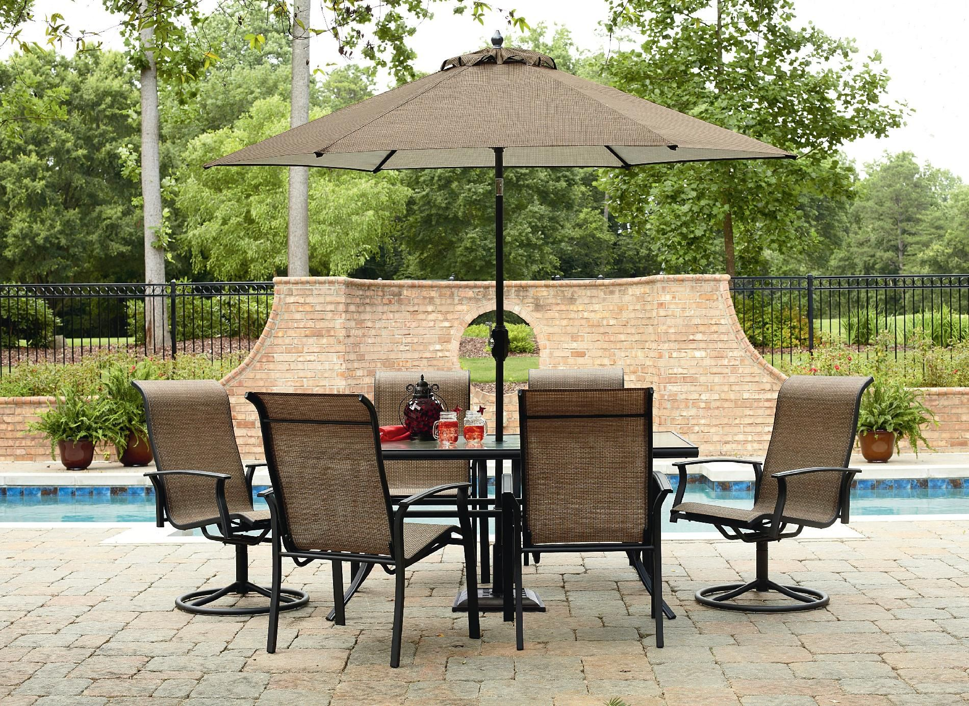 garden oasis harrison 7 piece dining set outdoor living patio furniture dining sets