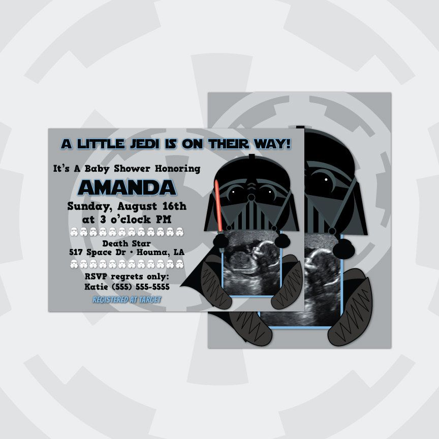 Star Wars, Disney, Darth Vader, Ultrasound Baby Shower Invitations ...