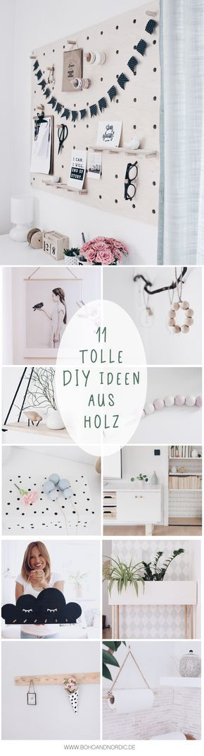 die sch nsten diy ideen aus holz 11 bastelanleitungen diy deko und wohnen pinnwand. Black Bedroom Furniture Sets. Home Design Ideas