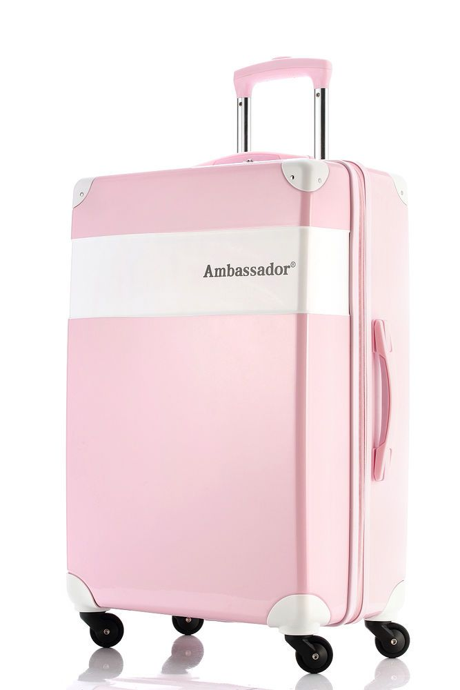 Ambassador® Modern Series Retro Carry On 20'' Suitcase Spinner ...