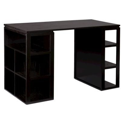 Craft table idea - Braden Desk - Black / too expensive for me, but it would be perfect for crafting