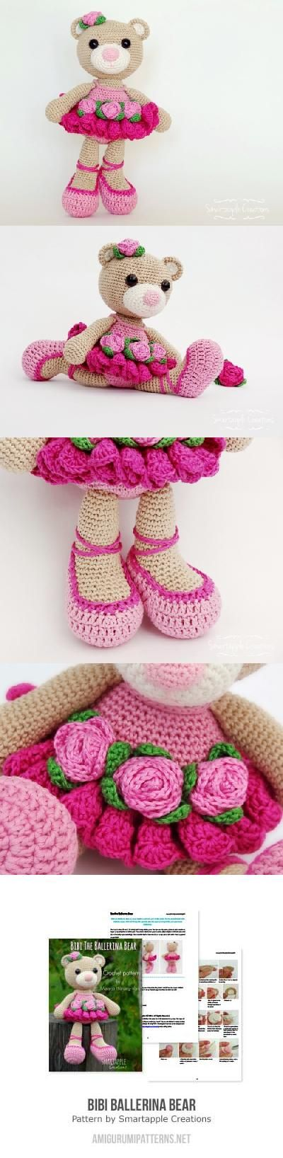 Crochet Ballerina Bear Free Pattern : Bibi the Ballerina Bear amigurumi pattern by Smartapple ...