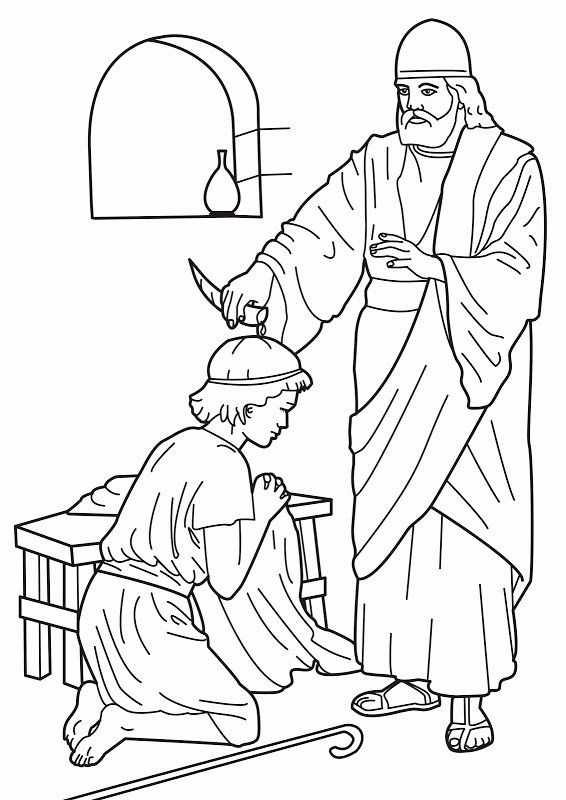 David Spares Saul Coloring Page Awesome 1000 Images About David On