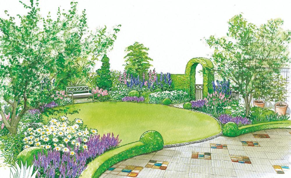 Terrasse und Garten als Einheit Pinterest Terrasse, Gärten und - reihenhausgarten vorher nachher