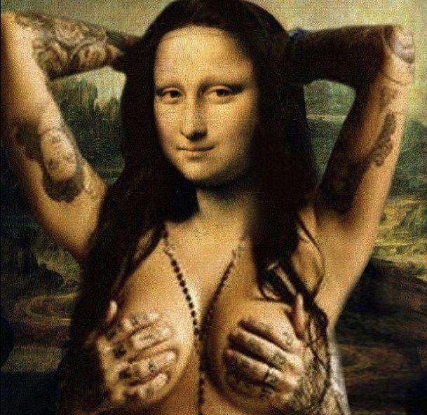 Inked Mona Lisa