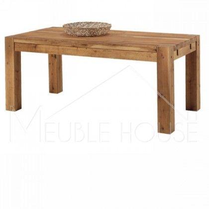 Table a manger bois massif table salle manger salle - Table cuisine bois brut ...