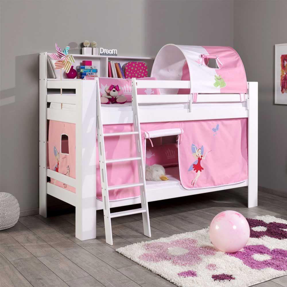 Kinderetagenbett Im Fee Design Weiß Rosa Jetzt Bestellen Unter:  Https://moebel.ladendirekt.de/kinderzimmer/betten/etagenbetten/?uidu003d2d87c28f 78b9 5e79 Aec9   ...
