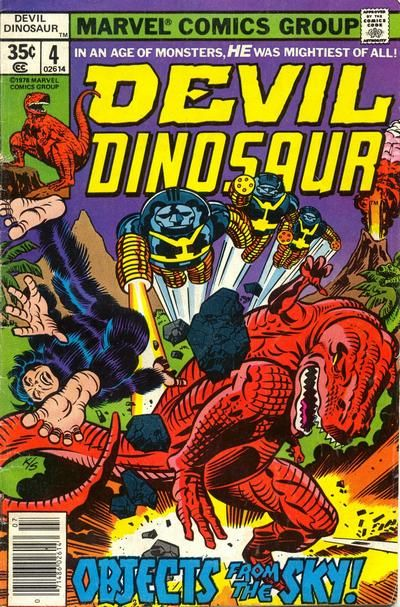 Devil Dinosaur # 4 by Jack Kirby & Joe Sinnott