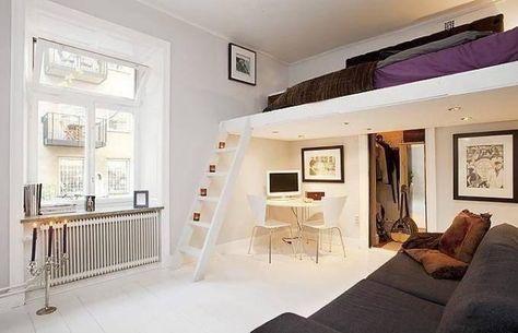 Lit mezzanine adulte pour l aménagement du petit appartement