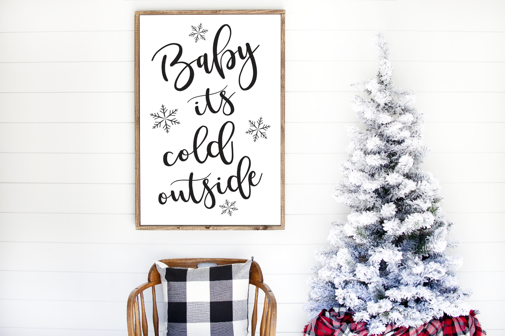 Baby It S Cold Outside Art Printable Baby Cold Christmas Wall Decor Christmas Prints