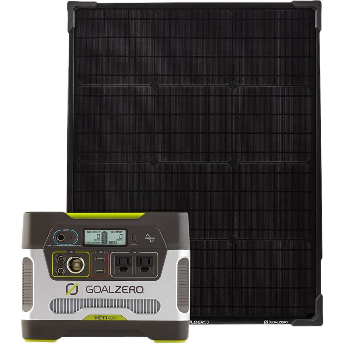 Goal Zero Yeti 400 Portable Power Station Boulder 50 Solar Panel Kit Best Solar Panels Solar Panels Solar Generator