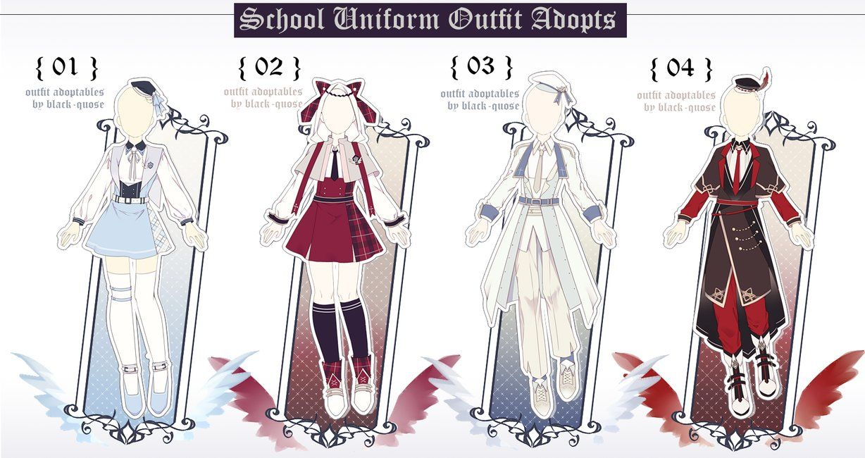 [CLOSED] School Uniform Outfit Adopts Auction by Black