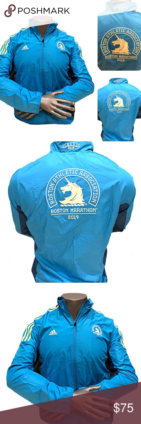 Adidas Boston Marathon Celebration Mens Jacket New Mens Jackets Running Clothes Jackets