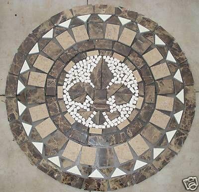Fleur De Lis Medallion Tile Love Foyer Ideas Mosaic