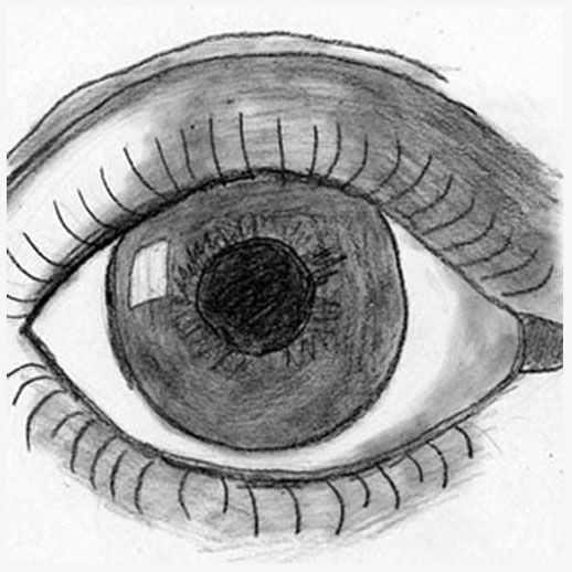 how to draw a detailed eye