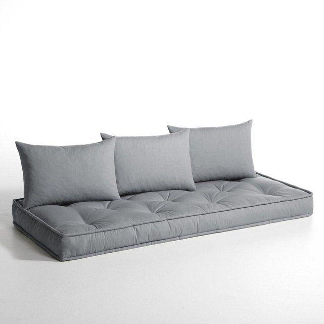 a poser sur palettes matelas et coussins pour banquette hiba 130 euros la redoute interieurs. Black Bedroom Furniture Sets. Home Design Ideas