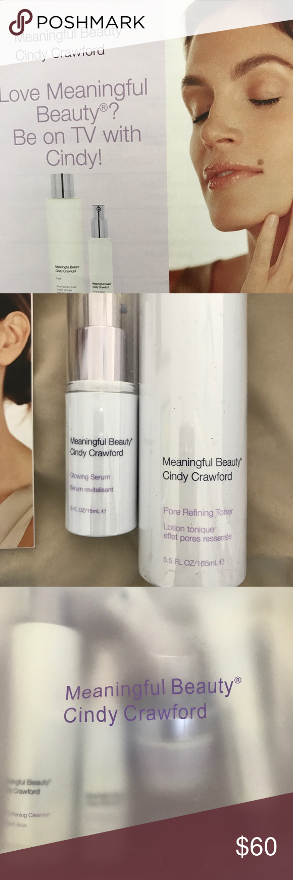 Cindy Crawford meaningful beauty kit Brandnew in the box
