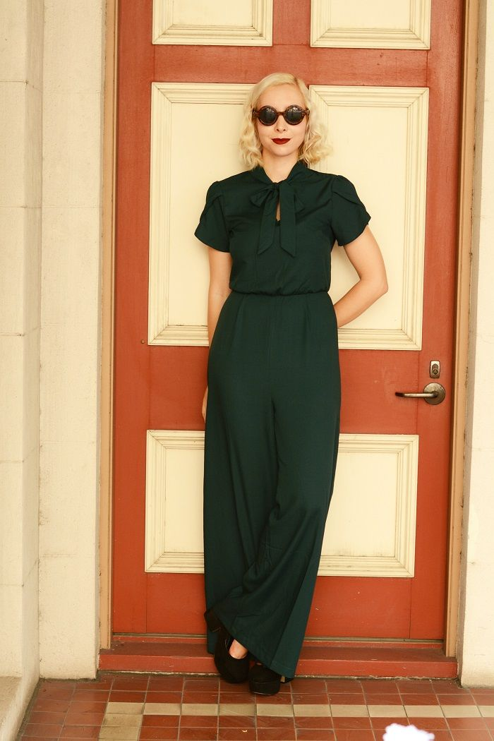 72946e82dae greenjumpsuit4 Vintage Shorts