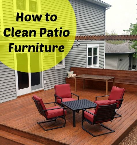 How To Clean Your Patio Furniture With 5 Diy Tutorials